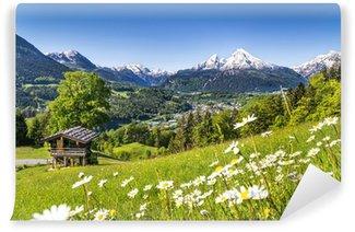 Carta da Parati Autoadesiva Paesaggio scenico in Alpi bavaresi, Berchtesgaden, Germania
