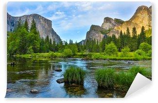 Carta da Parati Autoadesiva Yosemite Nationa parco al tramonto
