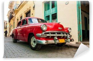 Carta da Parati in Vinile Automobili cuban vecchi