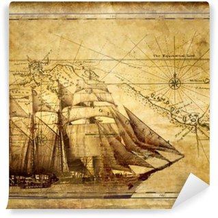 Carta da Parati in Vinile Avventure storie - sfondo vintage