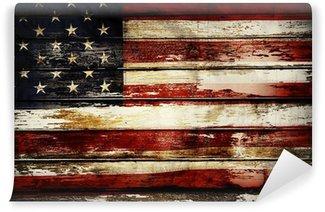 Carta da Parati in Vinile Bandiera americana