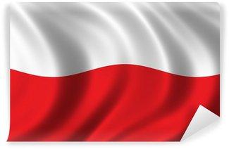Carta da Parati in Vinile Bandiera della Polonia