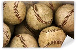 Carta da Parati in Vinile Baseballs