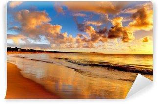 Carta da Parati in Vinile Bel tramonto sulla spiaggia