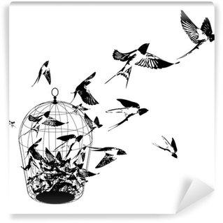 Carta da Parati in Vinile Birds