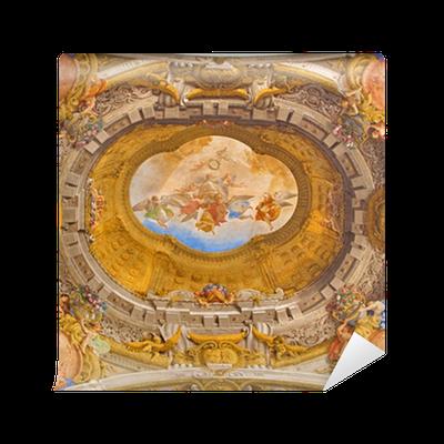 Carta da parati bologna soffitto affresco della cappella for Carta da parati per soffitto