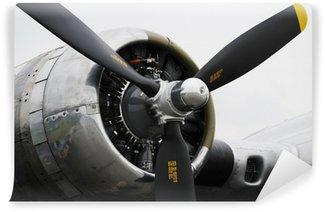 Carta da Parati in Vinile Bomber motore aereo