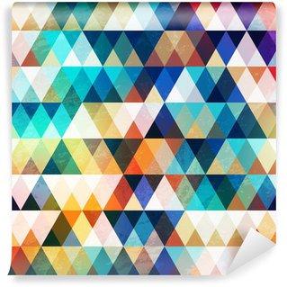 Carta da Parati in Vinile Brillante triangolo seamless con effetto grunge