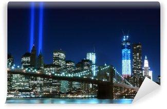Carta da Parati in Vinile Brooklyn Brigde e le torri di luci, New York City