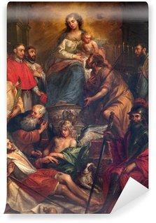 Carta da Parati in Vinile Bruges - Madonna ed i santi in st. Chiesa Giles
