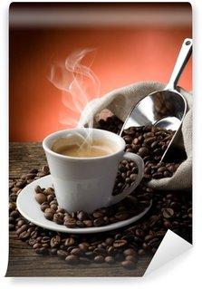Carta da Parati in Vinile Caffè caldo - caffe fumante