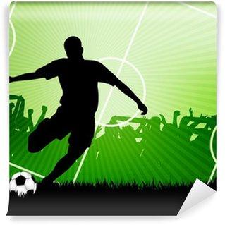 Carta da Parati in Vinile Calcio Sfondo
