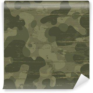 Carta da Parati in Vinile Camouflage sfondo militare. Illustrazione vettoriale, eps10
