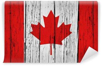 Carta da Parati in Vinile Canada Flag Grunge