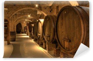 Carta da Parati in Vinile Cantina in Abbazia di Monte Oliveto Maggiore