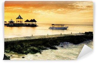 Carta da Parati in Vinile Caribbean Sunset