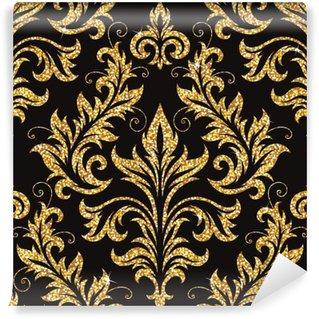 Carta da Parati in Vinile Carta da parati floreale d'oro