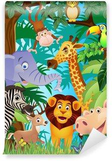 Carta da Parati in Vinile Cartone animato animale