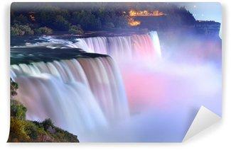 Carta da Parati in Vinile Cascate del Niagara in colori
