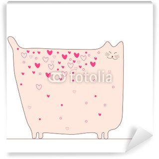 Carta da Parati in Vinile Cat love