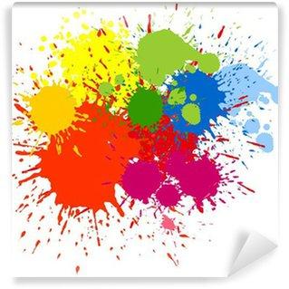 Carte da parati spruzzi di vernice colorata pixers for Carta da parati colorata