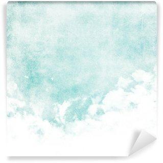 Carta da Parati in Vinile Colore di acqua come una nuvola sulla trama vecchia carta di sfondo