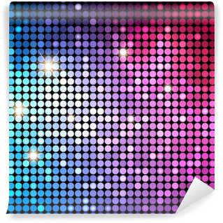 Carta da Parati in Vinile Colorful Dots Abstract disco background. Vector Background