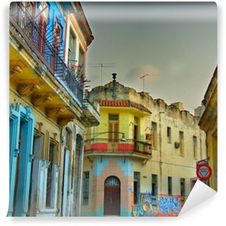 Carta da Parati in Vinile Colorful edifici Avana
