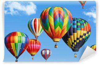 Carta da Parati in Vinile Colorful mongolfiere