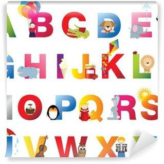 Carta da Parati in Vinile Completa bambini alfabeto