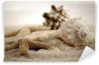 Carta da Parati in Vinile Conchiglie sulla sabbia