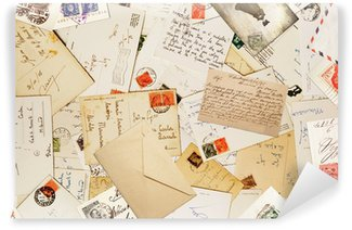 Carta da Parati in Vinile Corrispondenza vintage