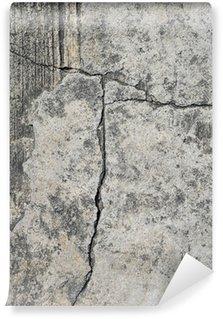 Carta da Parati in Vinile Cracked concrete texture closeup sfondo.