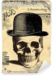 Carta da Parati in Vinile Cranio nel cappello