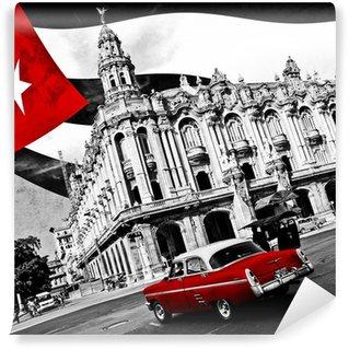 Carta da Parati in Vinile Cuba (n & b)