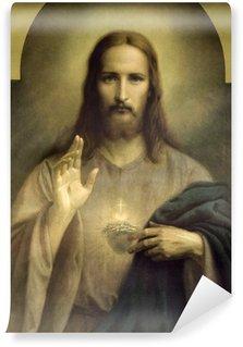 Carta da Parati in Vinile Cuore di Gesù Cristo