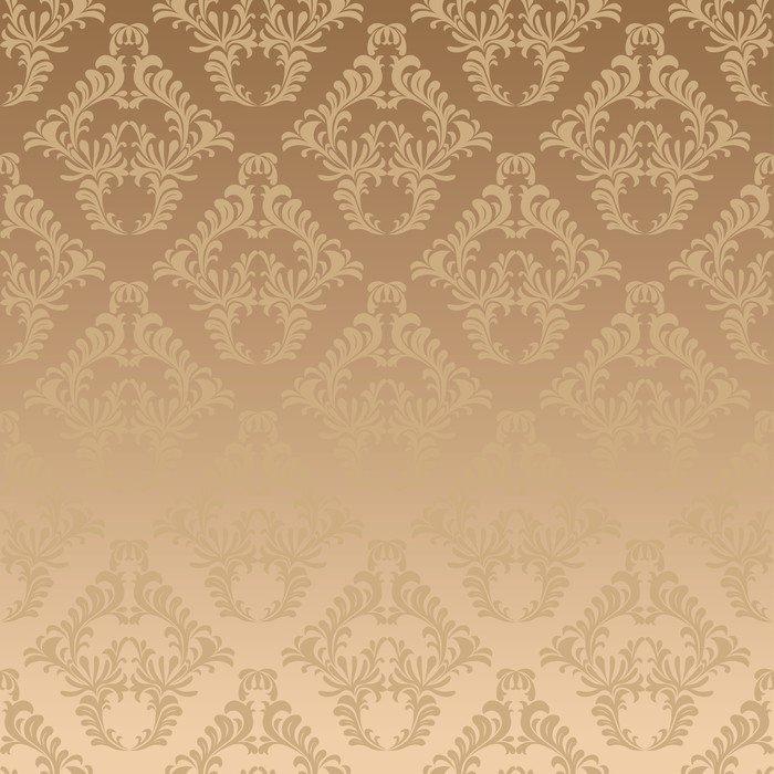 Carta da parati in vinile damasco oro background pixers for Carta da parati oro