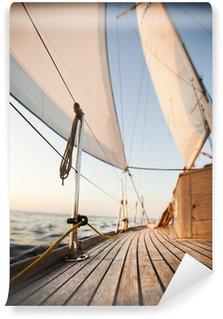 Carta da Parati in Vinile Del Mar Baltico con vela