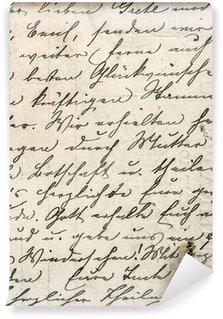 Carta da Parati in Vinile Della scrittura a mano d'epoca con un testo in lingua undefined