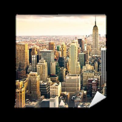 Carta da parati in vinile di new york skyline pixers for Carta da parati new york ebay