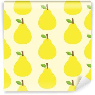 Carta da Parati in Vinile Disegno vettoriale colore di sfondo Carino frutta Guarda deliziosa rotonde