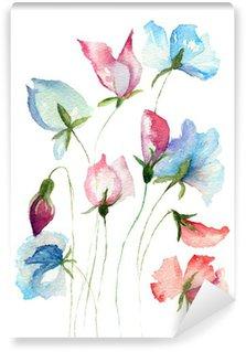 Carta da Parati in Vinile Dolci fiori di pisello