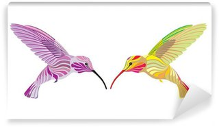 Carta da Parati in Vinile Due colibrì