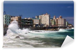 Carta da Parati in Vinile El Malecón, Havana