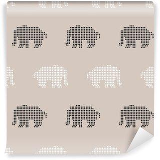 Carta da Parati in Vinile Elefante senza soluzione di modello