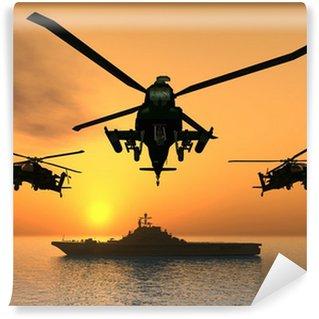 Carta da Parati in Vinile Elicottero Apache