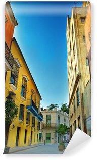 Carta da Parati in Vinile Facciate colorate della città de L'Avana
