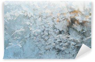 Carta da Parati in Vinile Finestra congelata, sfondo di Natale