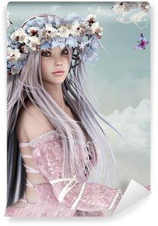 Carta da Parati in Vinile Fiore di ragazza
