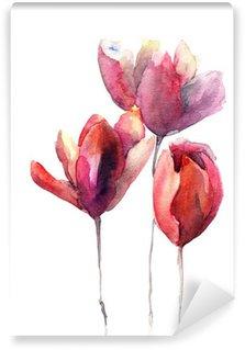 Carta da Parati in Vinile Fiori di tulipani